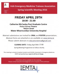 Call for Abstracts Spring 2016